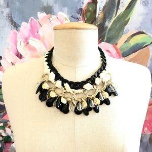 Banana Republic Jewelry - Banana Republic Charm Teardrop Braid Necklace NWT